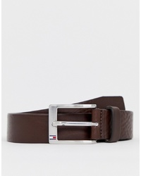 Tommy Hilfiger Aly Leather Belt In Brown