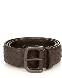 Bottega Veneta Intrecciato Leather 4cm Belt