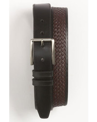 Tommy Bahama Leather Belt Black Brown 40
