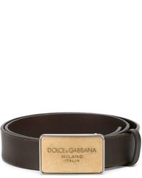 Dolce & Gabbana Logo Plaque Belt