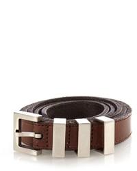 Saint Laurent Triple Loop Leather Belt