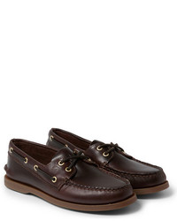 Top sider authentic original burnished leather boat shoes medium 218412