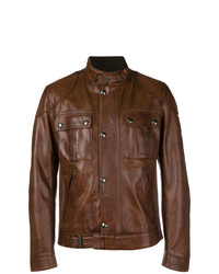 Belstaff Button Up Leather Jacket