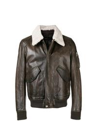 Belstaff Contrast Collar Biker Jacket