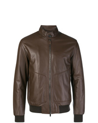 Z Zegna Leather Jacket