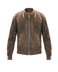 Alexander McQueen Leather To Suede Ombr Jacket