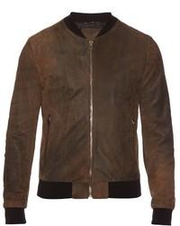 Dolce & Gabbana Suede Bomber Jacket