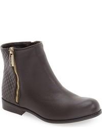 Dark Brown Leather Boots