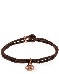 Paul Smith Peace Charm Leather Bracelet