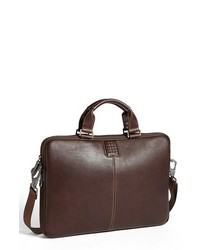Boconi Bryant Leather Laptop Briefcase