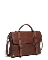 Frye Logan Briefcase Dark Brown One Size