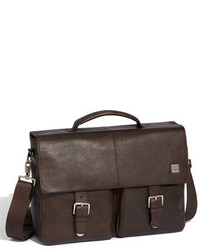 Knomo London Jackson Leather Briefcase