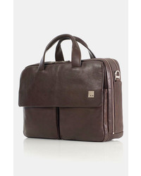 Knomo London Warwick Double Compartt Leather Briefcase
