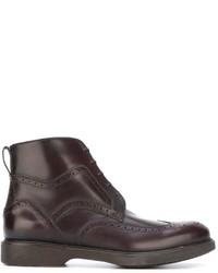 Salvatore Ferragamo Lace Up Boots