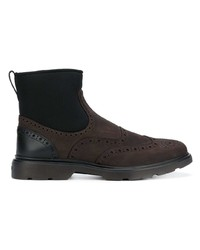 Hogan Contrast Ankle Boots