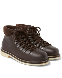 Loro Piana Laax Full Grain Leather Boots