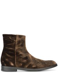 Crushed velvet chelsea boots medium 4413283