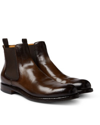Officine Creative Tempus Polished Leather Chelsea Boots