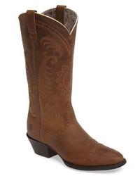 Dark Brown Leather Cowboy Boots