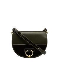 JW Anderson Khaki Green Latch Leather Shoulder Bag