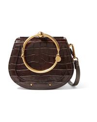 Chloé Nile Small Med Croc Effect Leather Shoulder Bag