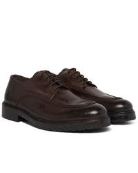 Officine Generale Burnished Leather Derby Shoes