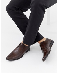 ASOS DESIGN Derby Shoes In Brown Leather