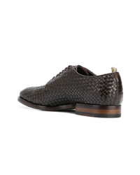 Officine Creative Princeton 081 Weaved Derby Shoes