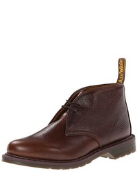 Dark Brown Leather Desert Boots