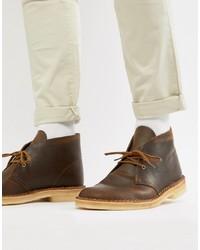Clarks Originals Desert Boots In Beeswax Leather