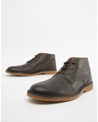 Selected Homme Leather Desert Boot
