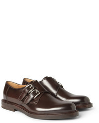 Gucci Leather Monk Strap Shoes
