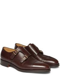 William leather monk strap shoes medium 153245