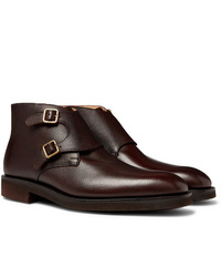 George Cleverley Fry Full Grain Leather Monk Strap Boots