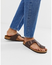 Birkenstock Ramses Birko Flor Sandals In Dark Brown