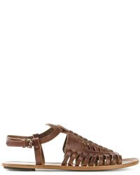 Proenza Schouler Strappy Woven Sandals