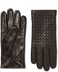 Bottega Veneta Cashmere Lined Intrecciato Leather Gloves