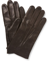 Loro Piana Cashmere Lined Leather Gloves