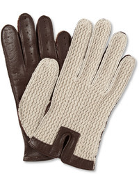 Dents Leather And Cotton Driving Gloves