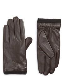 Topman Leather Tech Gloves