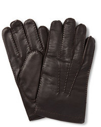 Shaftesbury touchscreen cashmere lined leather gloves medium 370314