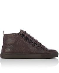 Balenciaga Arena High Top Sneakers Dark Brown