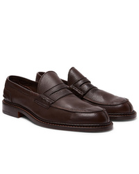 Tricker's Adam Pebble Grain Leather Penny Loafers