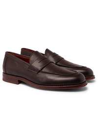 Loro Piana City Life Full Grain Leather Loafers