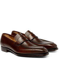 George Cleverley George Full Grain Leather Penny Loafers