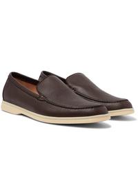 Loro Piana Summer Walk Full Grain Leather Loafers