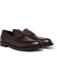 Berluti Venezia Leather Penny Loafers