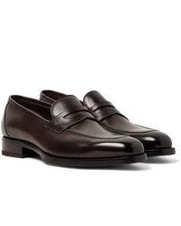 Tom Ford Wessex Polished Leather Penny Loafers