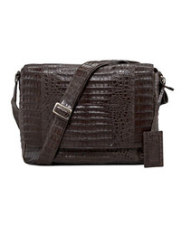 Santiago Gonzalez Crocodile Messenger Bag