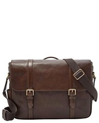 148b0bc456 Men's Dark Brown Leather Messenger Bags by Fossil | Men's Fashion ...